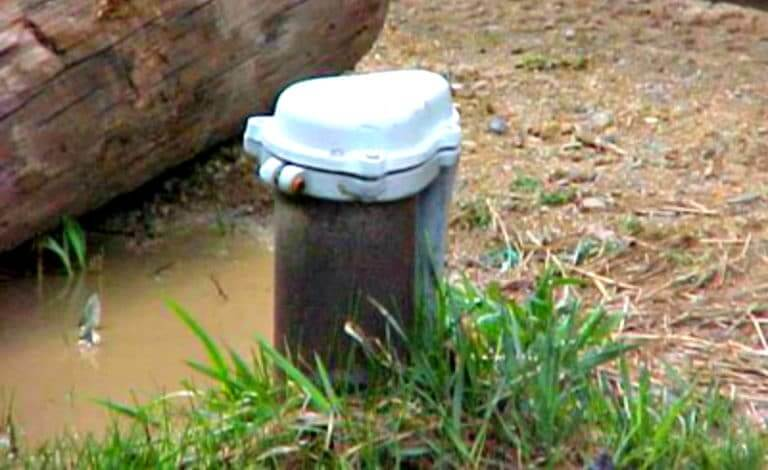Example of a Flooded Water Well Head